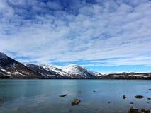 Kanas See im Winter Stockfotografie