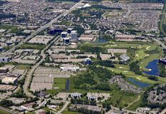 Kanata Ontario, aéreo Foto de archivo libre de regalías