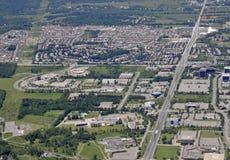 Kanata Ontario, aerial. Aerial view of Kanata, Ontario Canada royalty free stock photography