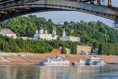 Kanavinsky Bridge and the Blagoveshensky monastery Royalty Free Stock Photos