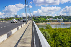 Kanavinsky Bridge, footpath. Nizhny Novgorod Stock Photography