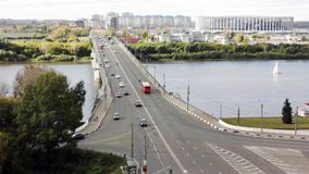 Kanavinsky Bridge - the oldest bridge in Nizhny Novgorod stock video