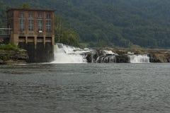 Kanawha cai represa Fotografia de Stock Royalty Free