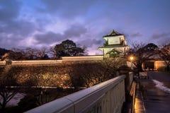 Kanazawa, Япония - 15-ое декабря 2017: Замок Kanazawa Стоковая Фотография RF