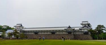 Kanazawa, Япония - 12-ое мая 2017: Замок Kanazawa Стоковые Изображения