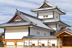 Kanazawa castle in historic samurai town in Japan Stock Photo