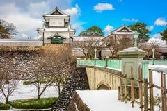 Kanazawa Castle Japan. Kanazawa, Japan at Kanazawa Castle in the winter royalty free stock images