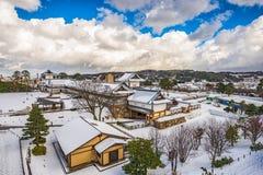 Kanazawa Castle. Kanazawa, Japan at Kanazawa Castle in the winter stock image