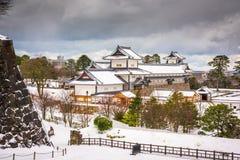 Kanazawa Castle in Japan. Kanazawa, Japan at Kanazawa Castle in the winter royalty free stock image