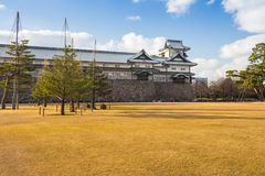 Kanazawa castle in Kanazawa, Japan. Stock Image