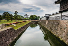 Kanazawa castle. Is a large, well-restored castle in Kanazawa, Ishikawa Prefecture, Japan stock photos