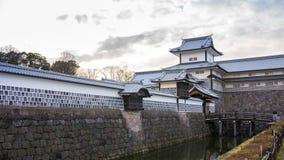 Kanazawa Castle skyline timelapse in Kanazawa, Ishikawa Prefecture, Japan