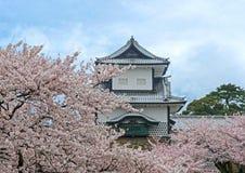 Kanazawa Castle in Spring. Kanazawa Castle entrance turret in springtime royalty free stock image