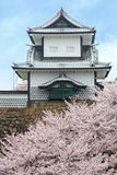 Kanazawa Castle in Spring. Kanazawa Castle entrance turret in springtime royalty free stock photos