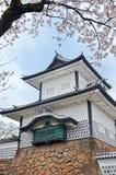 Kanazawa Castle in Spring. Kanazawa Castle entrance turret in springtime stock images
