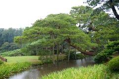 Kanazawa garden. View over the Kenrokuen garden in Kanazawa, Japan royalty free stock photo