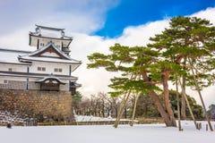 Kanazawa, Japan Castle. Kanazawa, Japan at the castle in wnter stock photos