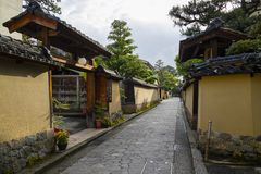 Free Kanazawa - Japan, June 8, 2017: Narrow Lane In Nagamachi,the Hi Stock Photos - 105317173