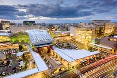 Kanazawa Japan stadshorisont Royaltyfri Fotografi