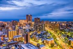 Kanazawa Japonia linia horyzontu Zdjęcia Royalty Free