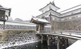 Kanazawa kasztel w zimie obrazy royalty free