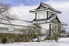 Kanazawa kasztel w zimie Obraz Stock