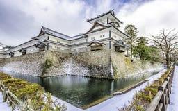 Kanazawa kasztel w zimie Zdjęcia Royalty Free