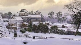 Kanazawa kasztel w zimie Fotografia Stock