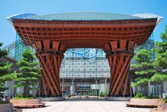 Kanazawa train station Royalty Free Stock Photography