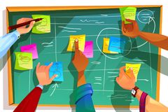 Free Kanban Board For Agile Scrum Vector Illustration Stock Photography - 122575752