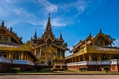 Kanbawzathadi Palace, Bago, Myanmar royalty free stock images