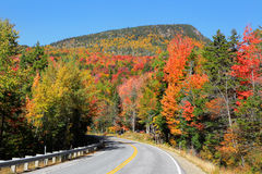 Kancamagus high way Royalty Free Stock Photo