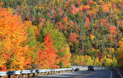 Kancamagus high way Royalty Free Stock Photography