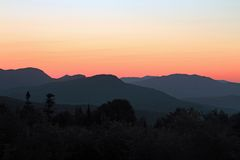 Kancamangus Sunrise near Lincoln, New Hampshire 2016 Royalty Free Stock Photography
