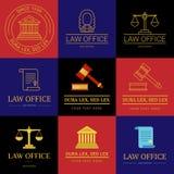 Kancelaria prawna loga kolekcja Zdjęcie Royalty Free