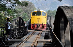Kanchaburi, Thailand: River Kwai Bridge Royalty Free Stock Photos