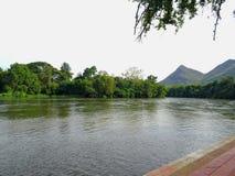 kanchanaburi的泰国奎伊河 库存图片