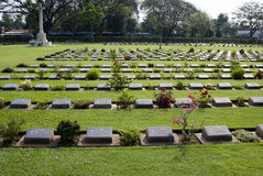 Kanchanaburi Cemetery Royalty Free Stock Image