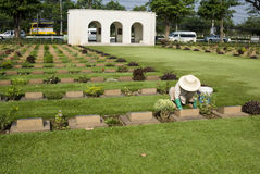 Kanchanaburi Cemetery Stock Photography