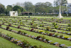 Kanchanaburi Cemetery Royalty Free Stock Images