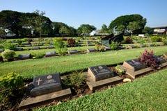 Kanchanaburi krigkyrkogård, Thailand Fotografering för Bildbyråer