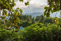 Kanchanaburi-Landschaftslandschaft Stockfotos