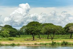 Kanchanaburi nature landscape Stock Photo
