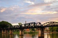 Kanchanaburi Tailândia, a ponte no rio Kwai fotos de stock royalty free