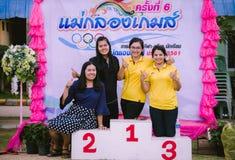 KANCHANABURI TAILÂNDIA - 8 DE OUTUBRO: Professor fêmea de Unidentiffied fotografia de stock