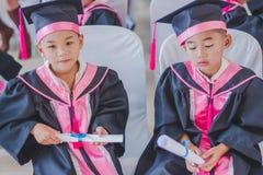 KANCHANABURI TAILANDIA - 23 DE MARZO: Provid de la escuela de Wat Krangthong fotos de archivo libres de regalías