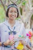 KANCHANABURI TAILANDIA - 23 MARZO: Provid della scuola di Wat Krangthong Immagine Stock Libera da Diritti