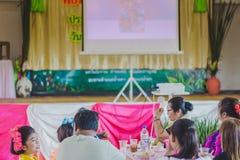 KANCHANABURI TAILANDIA - 23 MARZO: Provid della scuola di Wat Krangthong Fotografie Stock Libere da Diritti