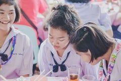 KANCHANABURI TAILANDIA - 23 MARZO: Provid della scuola di Wat Krangthong Immagini Stock Libere da Diritti