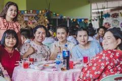 KANCHANABURI TAILANDIA - 23 MARZO: Provid della scuola di Wat Krangthong Immagini Stock